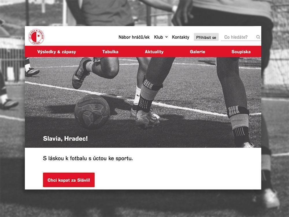 Nový web FCSlaviaHradec v beta verzi